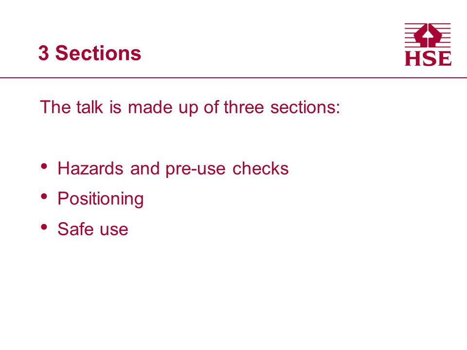 3 Sections The talk is made up of three sections:
