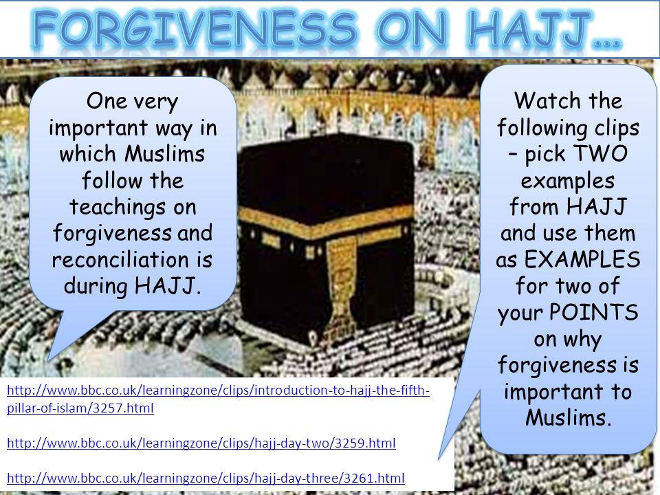 Forgiveness on hajj… UR