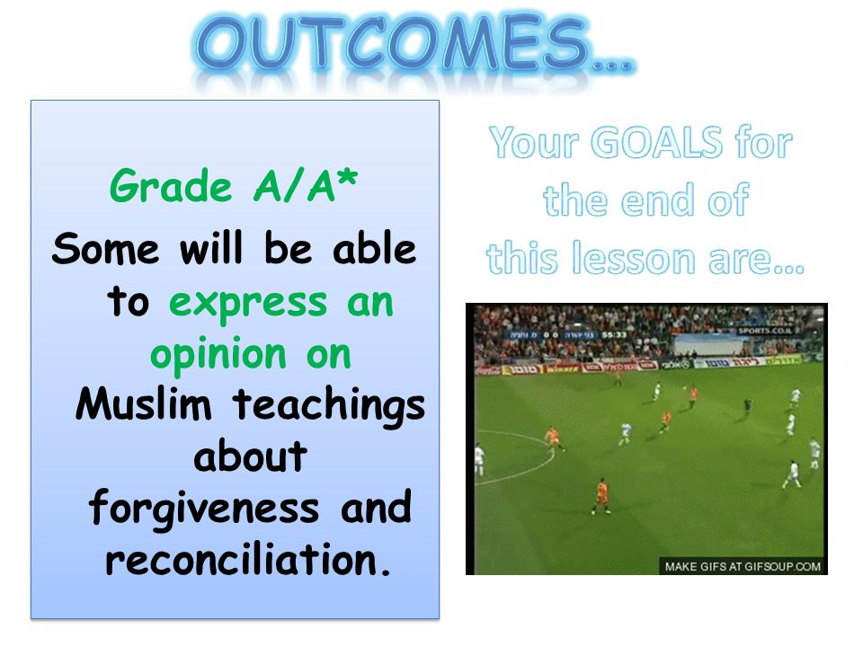 Outcomes… Your GOALS for the end of this lesson are… Grade A/A*