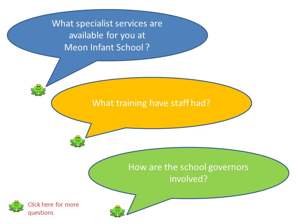 What specialist services are available for you at Meon Infant School