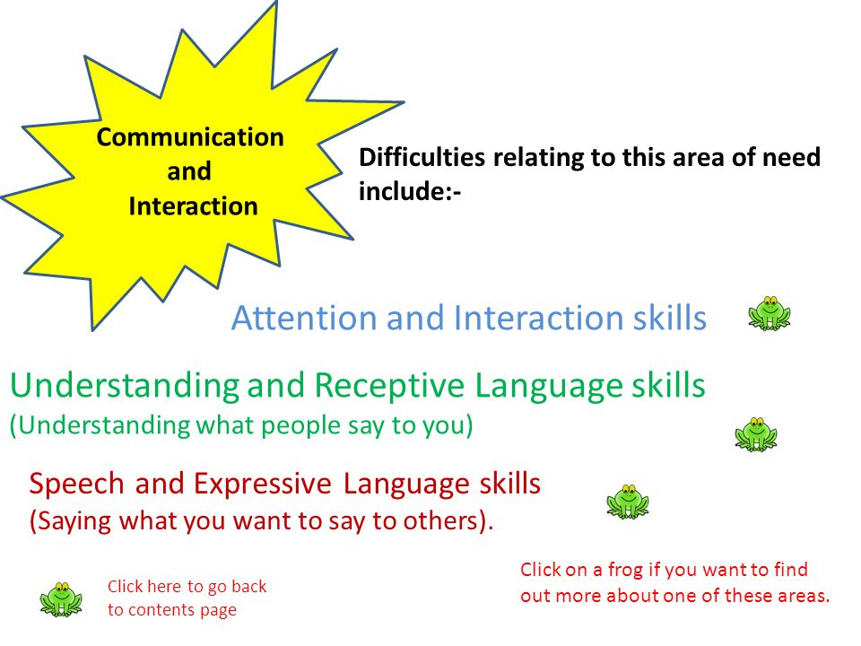 Attention and Interaction skills