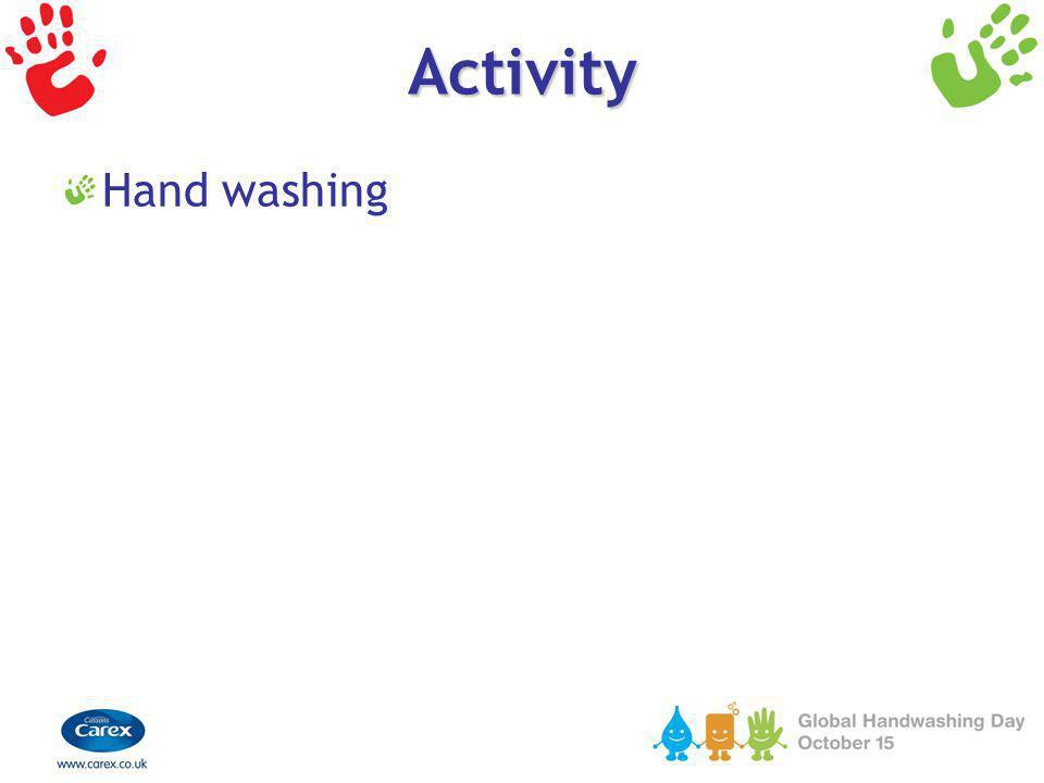 Activity Hand washing
