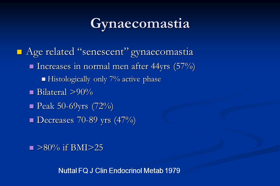 Gynaecomastia Age related senescent gynaecomastia