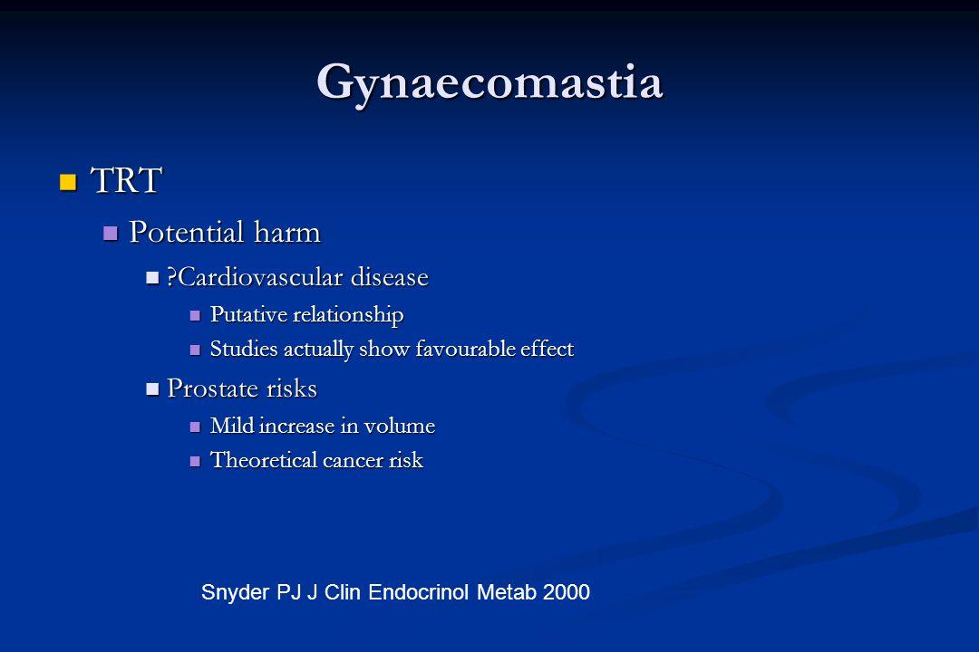 Gynaecomastia TRT Potential harm Cardiovascular disease