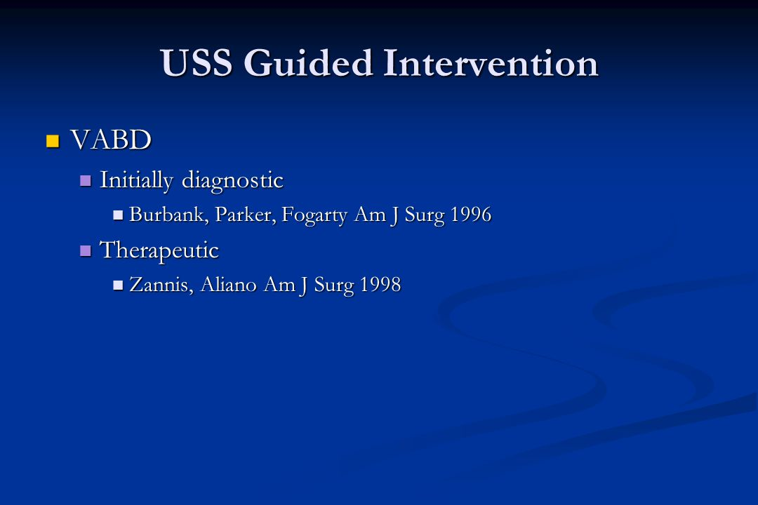USS Guided Intervention