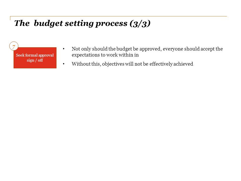 The budget setting process (3/3)