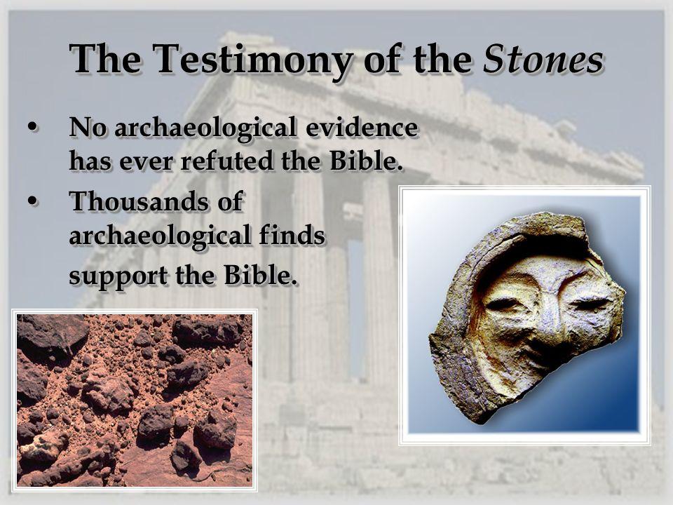 The Testimony of the Stones