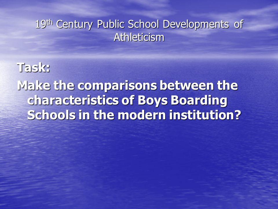 19th Century Public School Developments of Athleticism