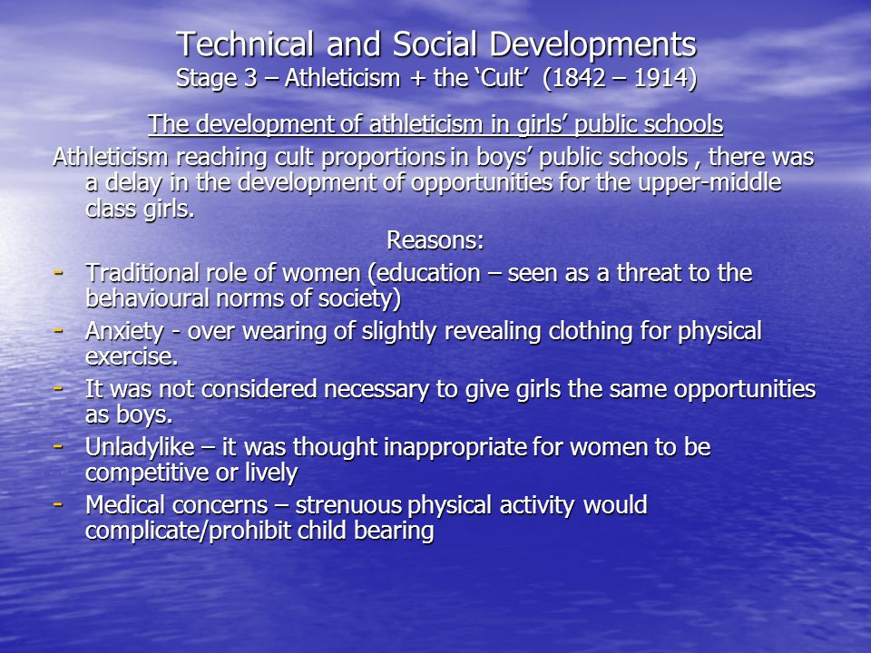 The development of athleticism in girls' public schools