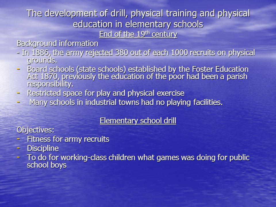 Elementary school drill
