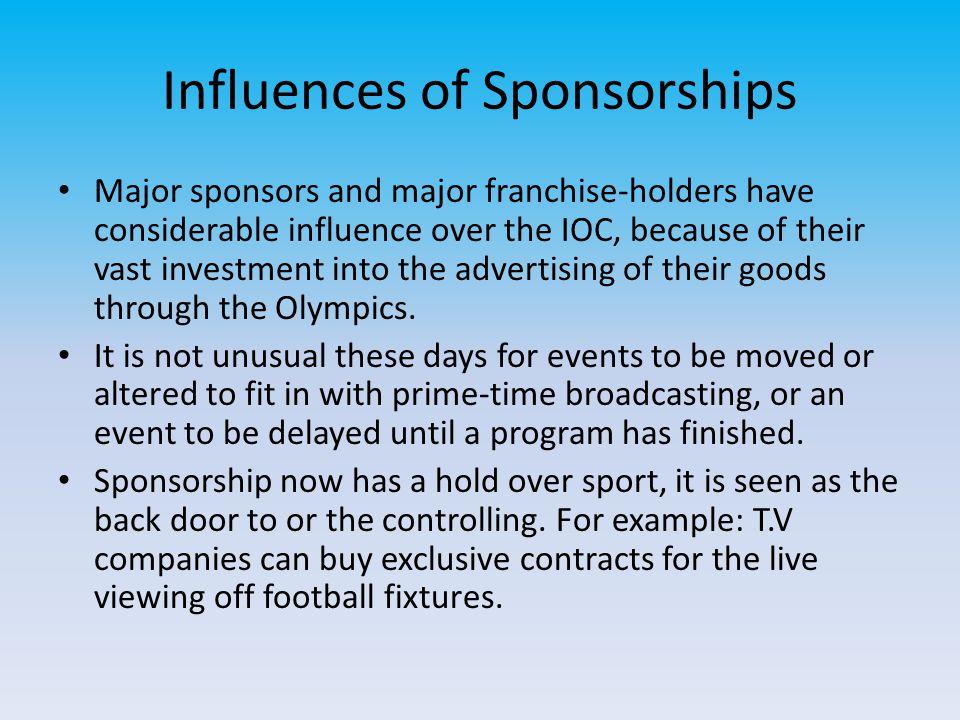 Influences of Sponsorships