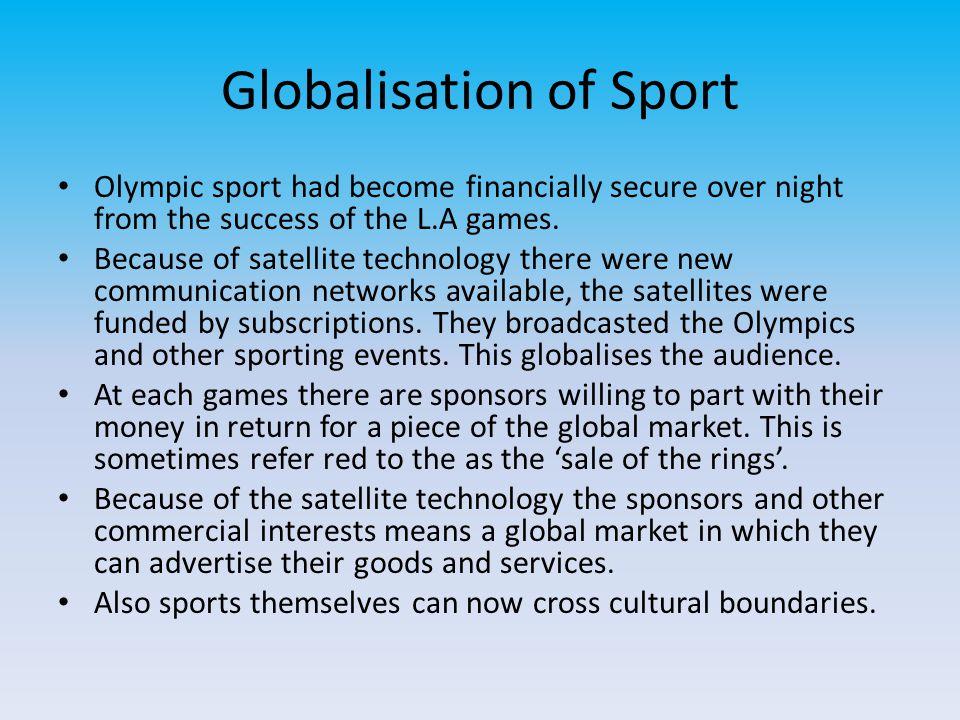 Globalisation of Sport