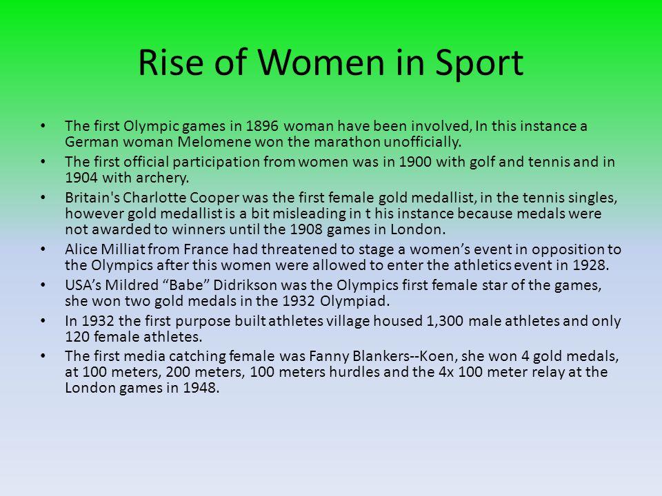 Rise of Women in Sport