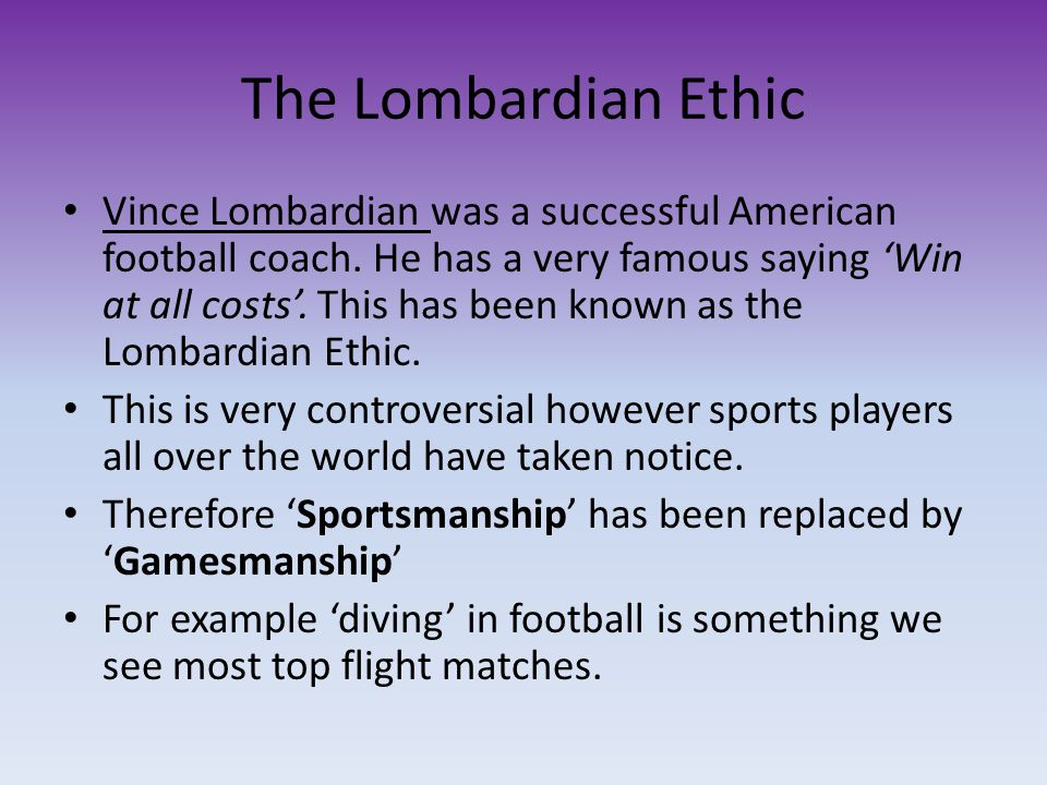 The Lombardian Ethic