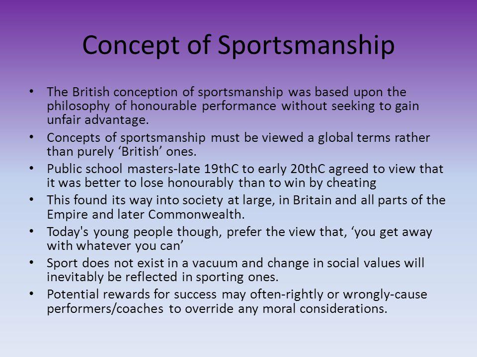 Concept of Sportsmanship