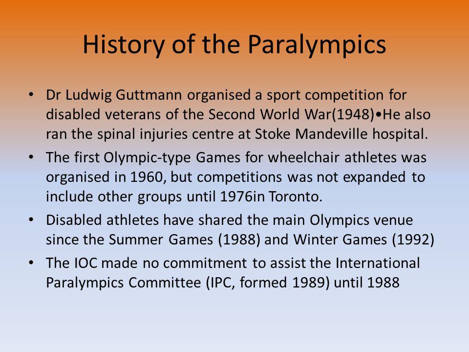 History of the Paralympics
