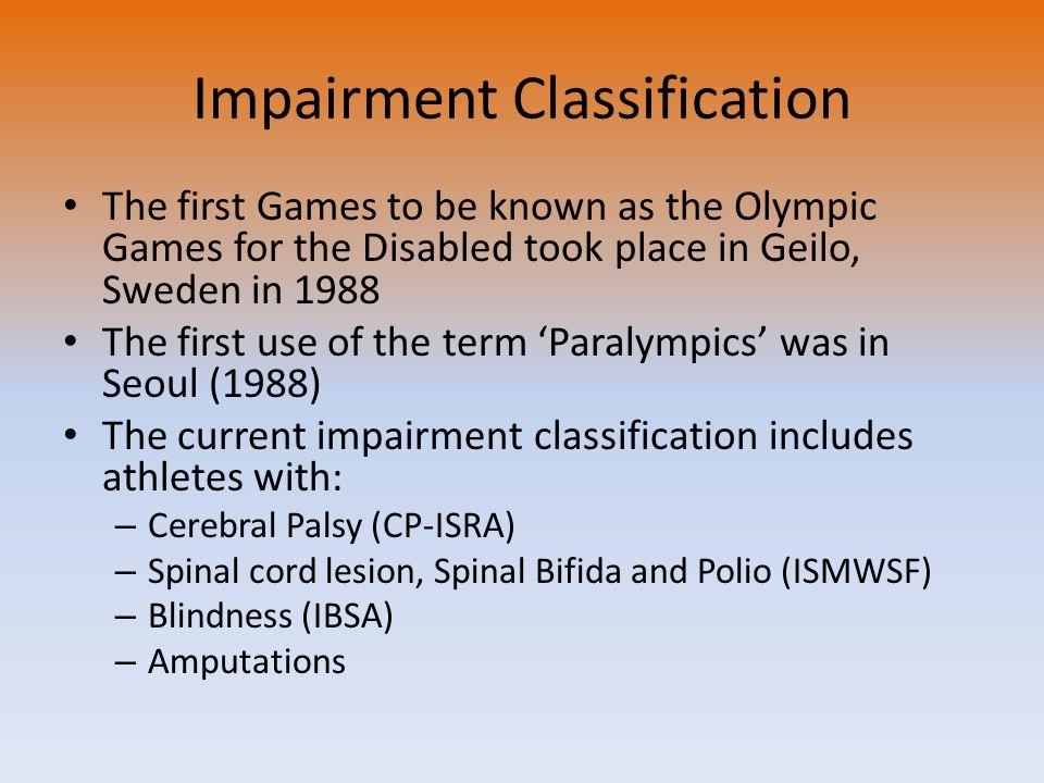 Impairment Classification