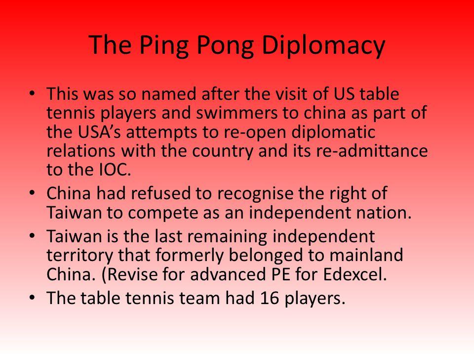 The Ping Pong Diplomacy