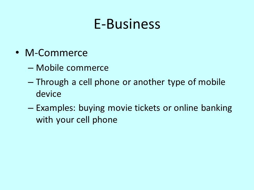E-Business M-Commerce Mobile commerce