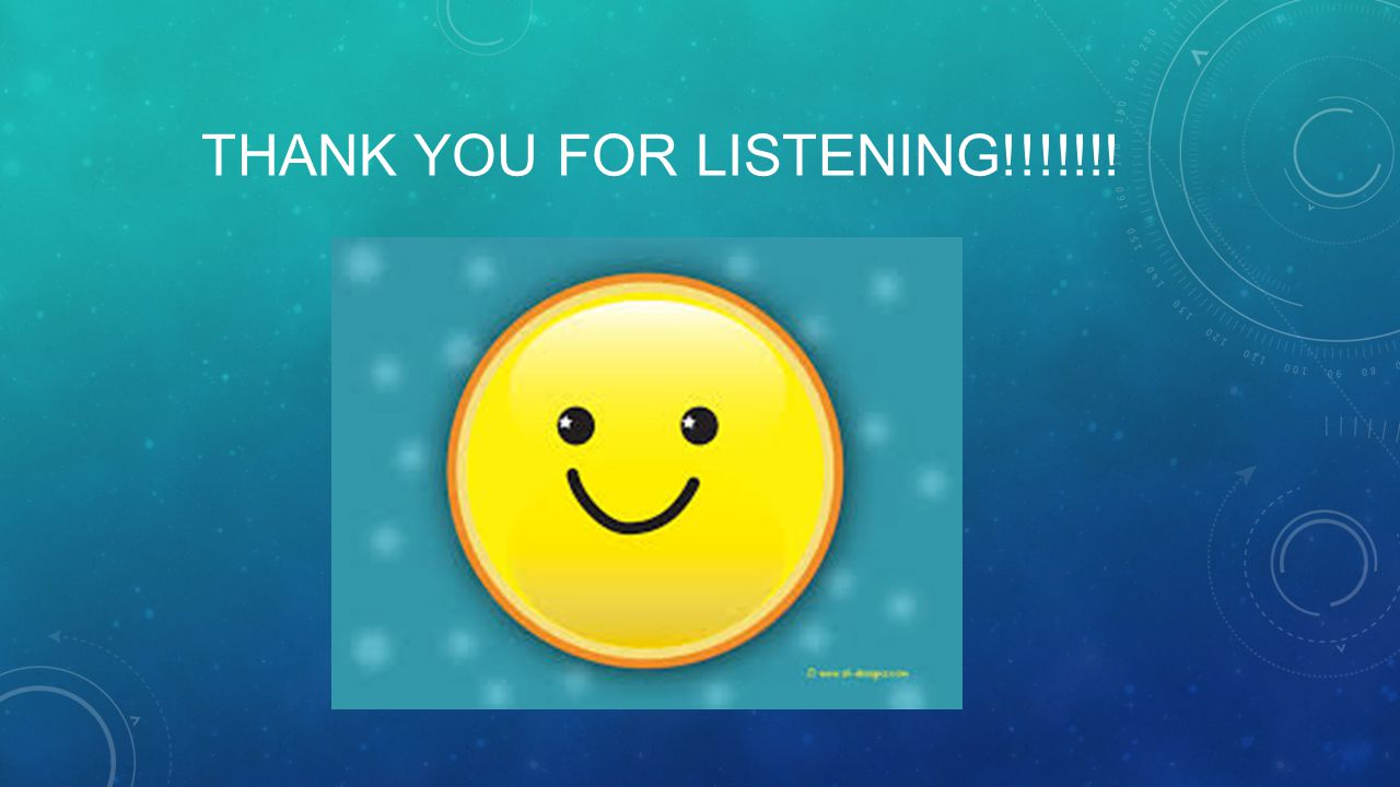 Thank you for listening!!!!!!!