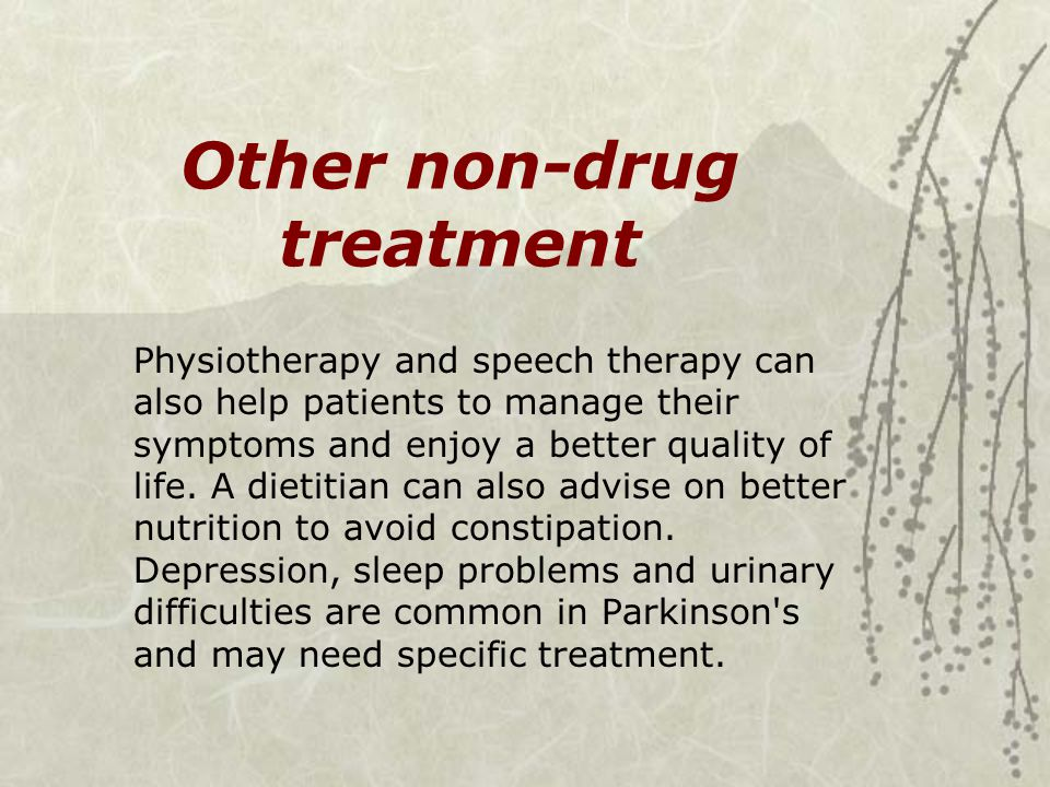 Other non-drug treatment