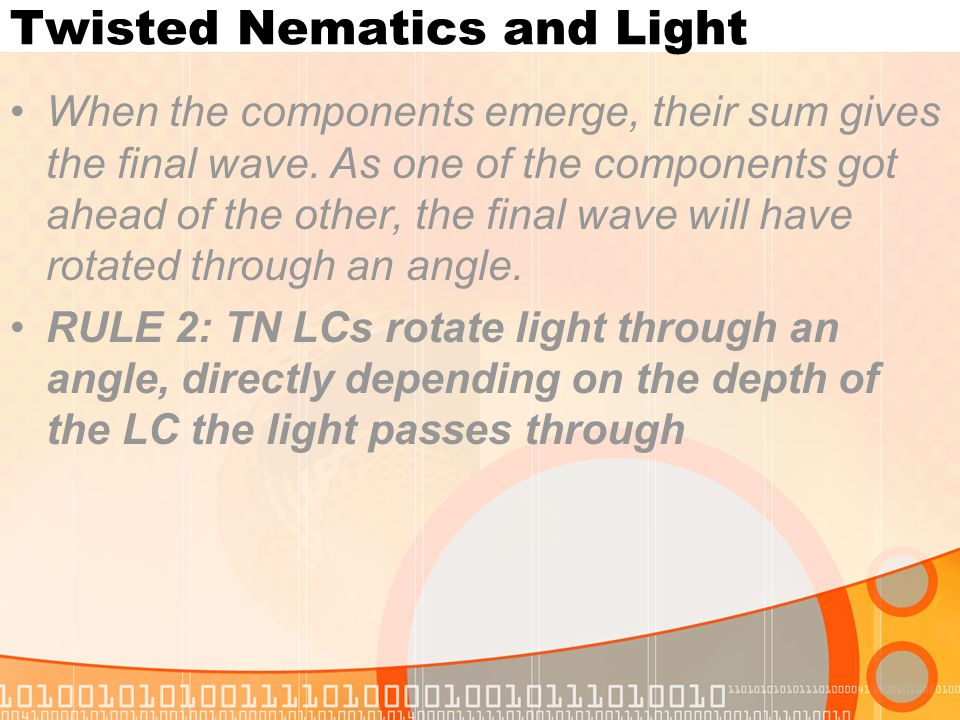 Twisted Nematics and Light
