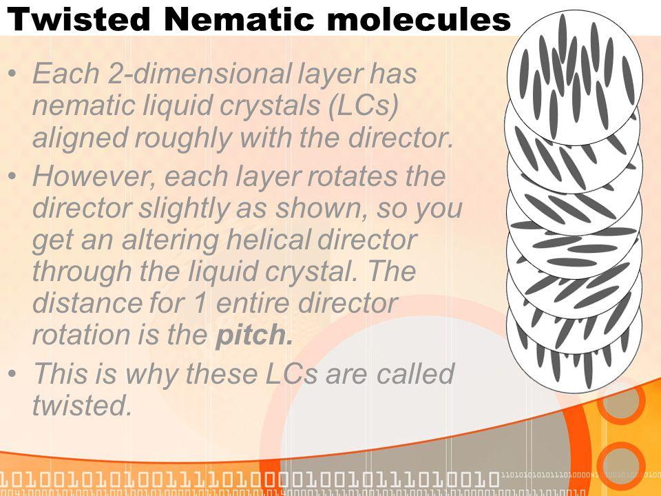 Twisted Nematic molecules