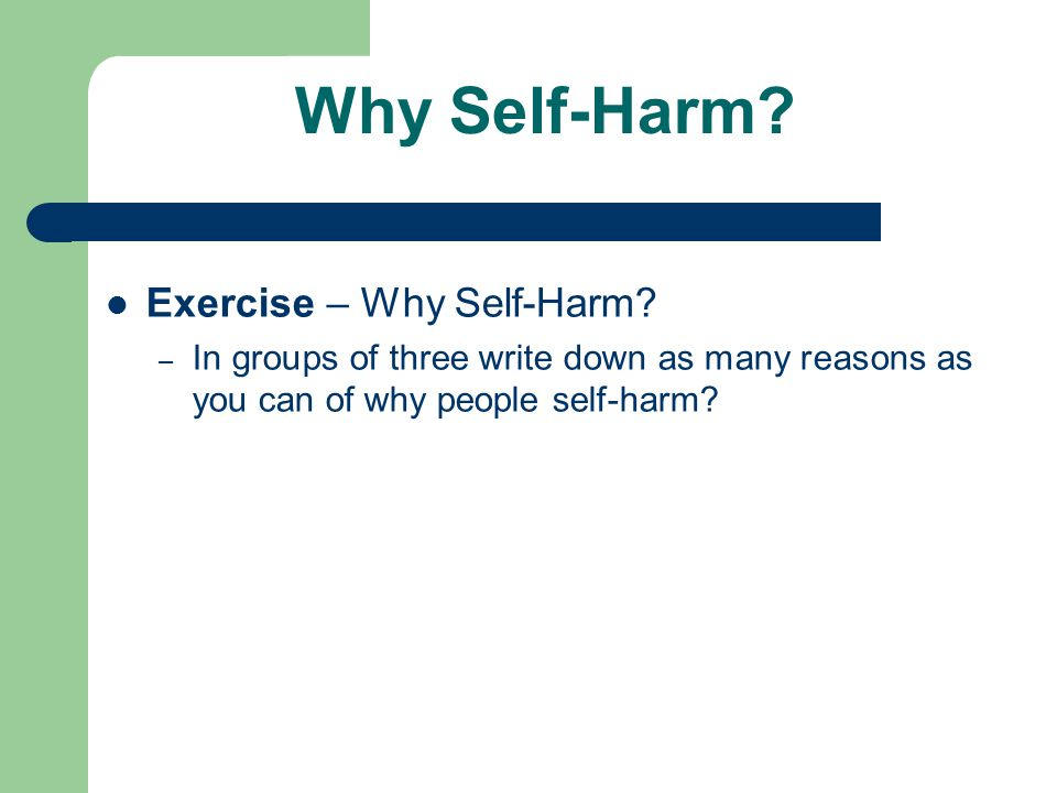 essay on self harm The despairing act of self harm essay - have you ever, coincidentally, walked passed somebody with deep, open cuts on his/her wrist and wondered what happened maybe, you thought it was a simple, harmless scratch caused by obnoxious pets at home.