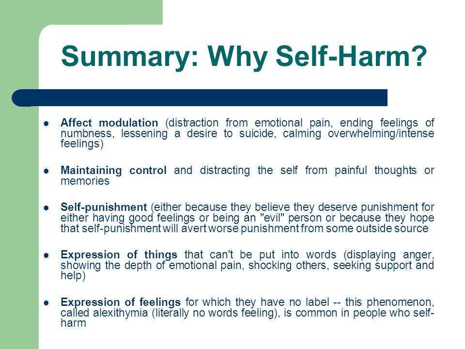 Summary: Why Self-Harm