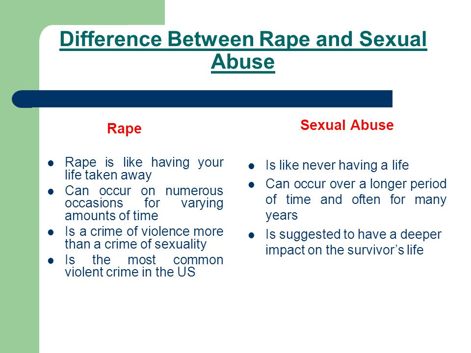 Difference Between Rape and Sexual Abuse