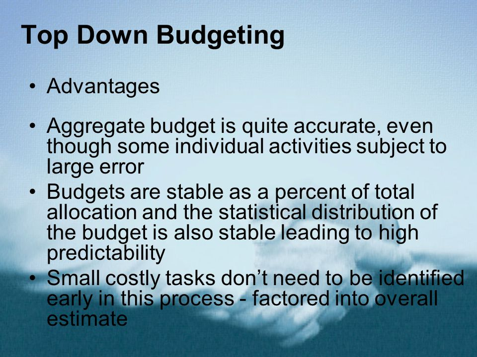 Top Down Budgeting Advantages