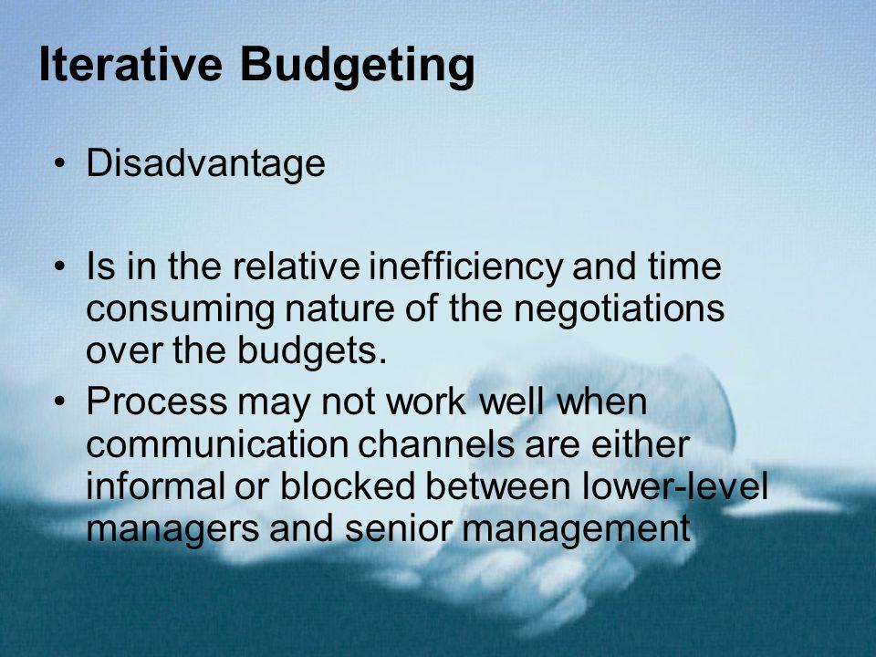 Iterative Budgeting Disadvantage