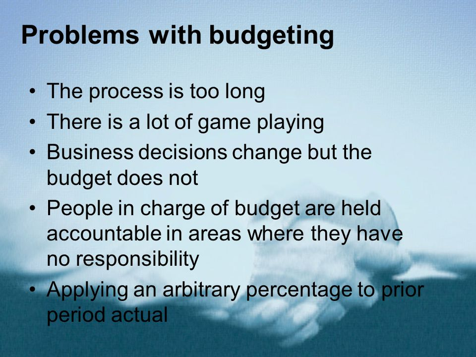 Problems with budgeting