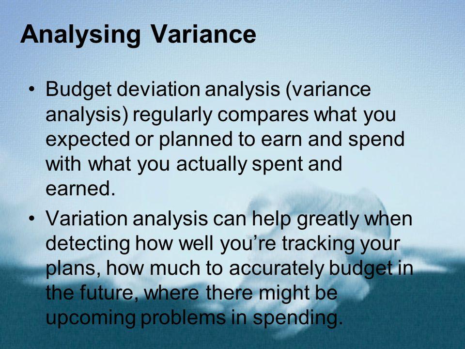 Analysing Variance