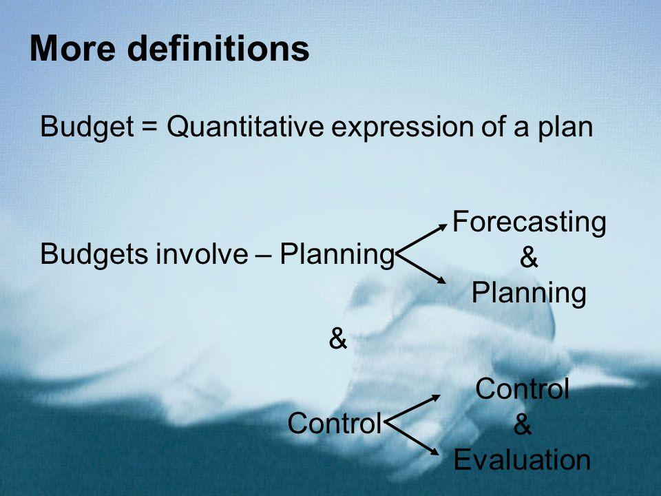 Forecasting & Planning