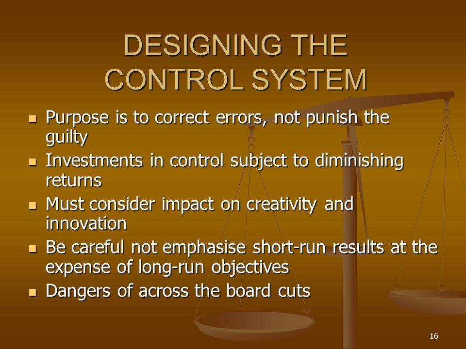 DESIGNING THE CONTROL SYSTEM