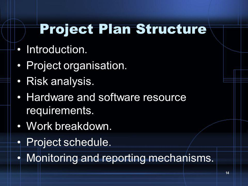 Project Plan Structure