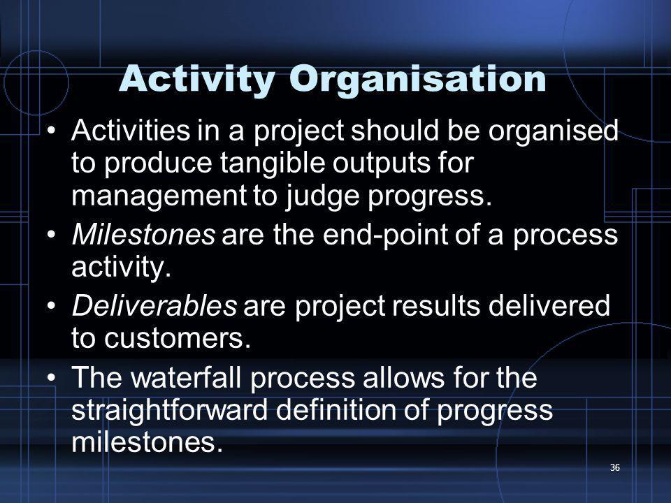 Activity Organisation