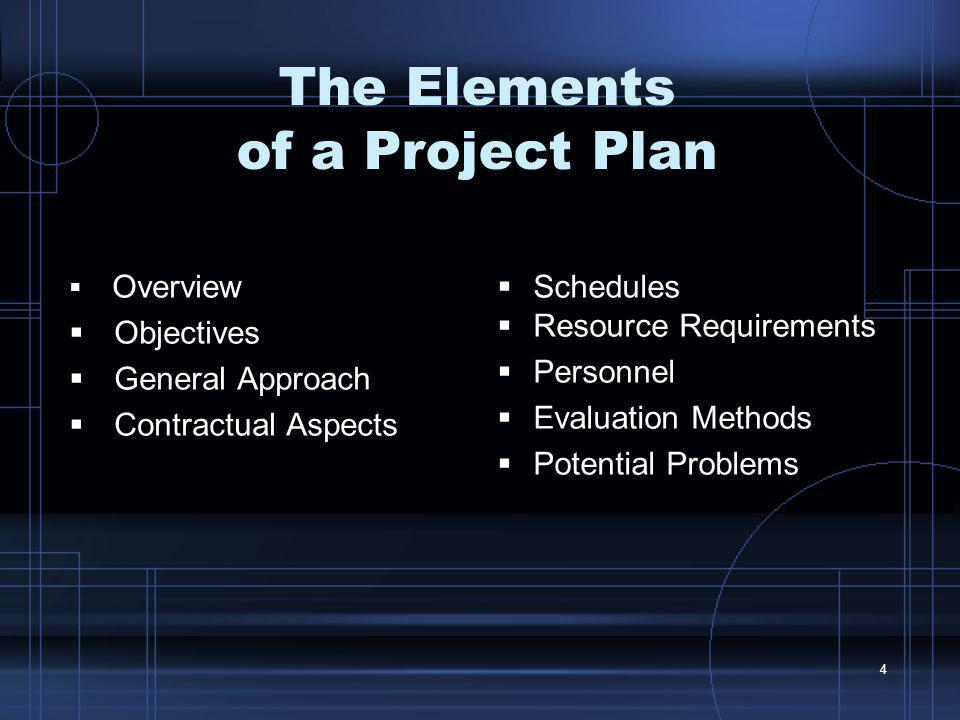 The Elements of a Project Plan