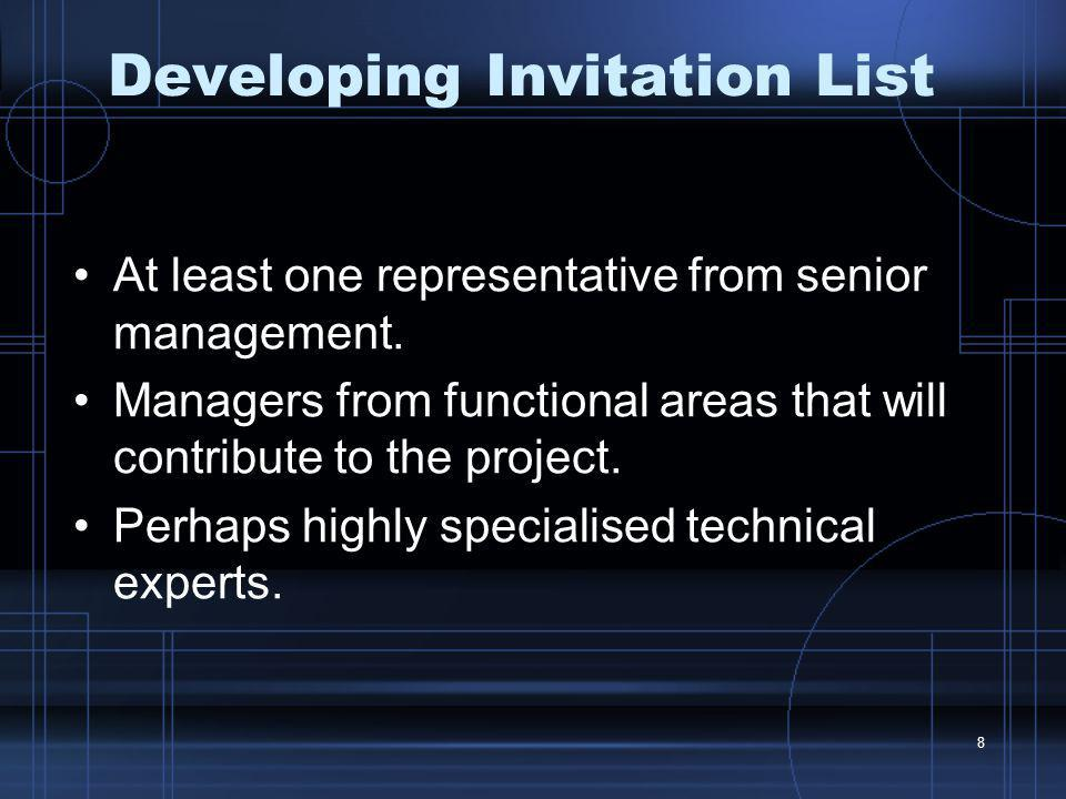 Developing Invitation List
