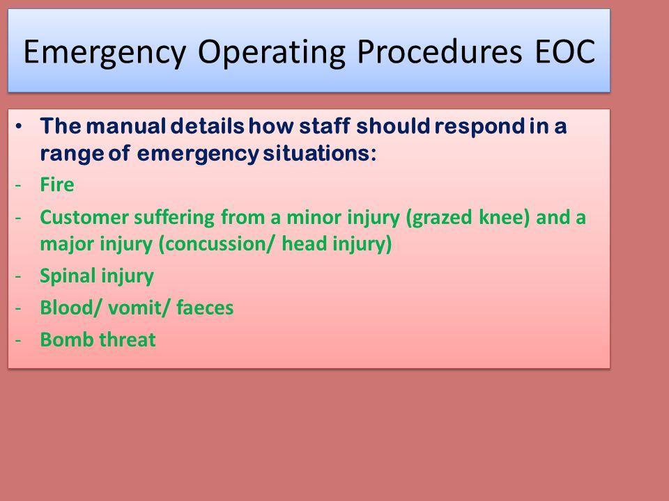 Emergency Operating Procedures EOC