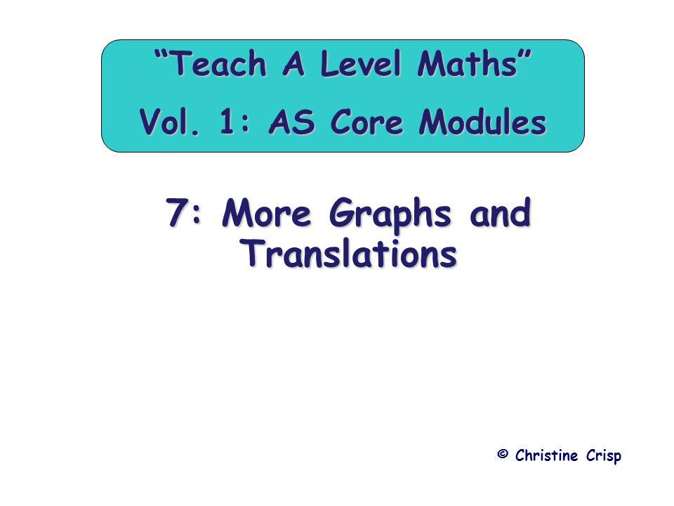 Teach A Level Maths Vol. 1: AS Core Modules
