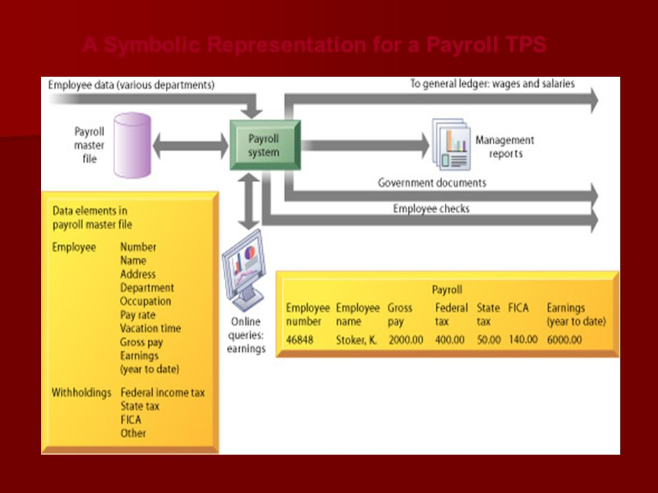 A Symbolic Representation for a Payroll TPS