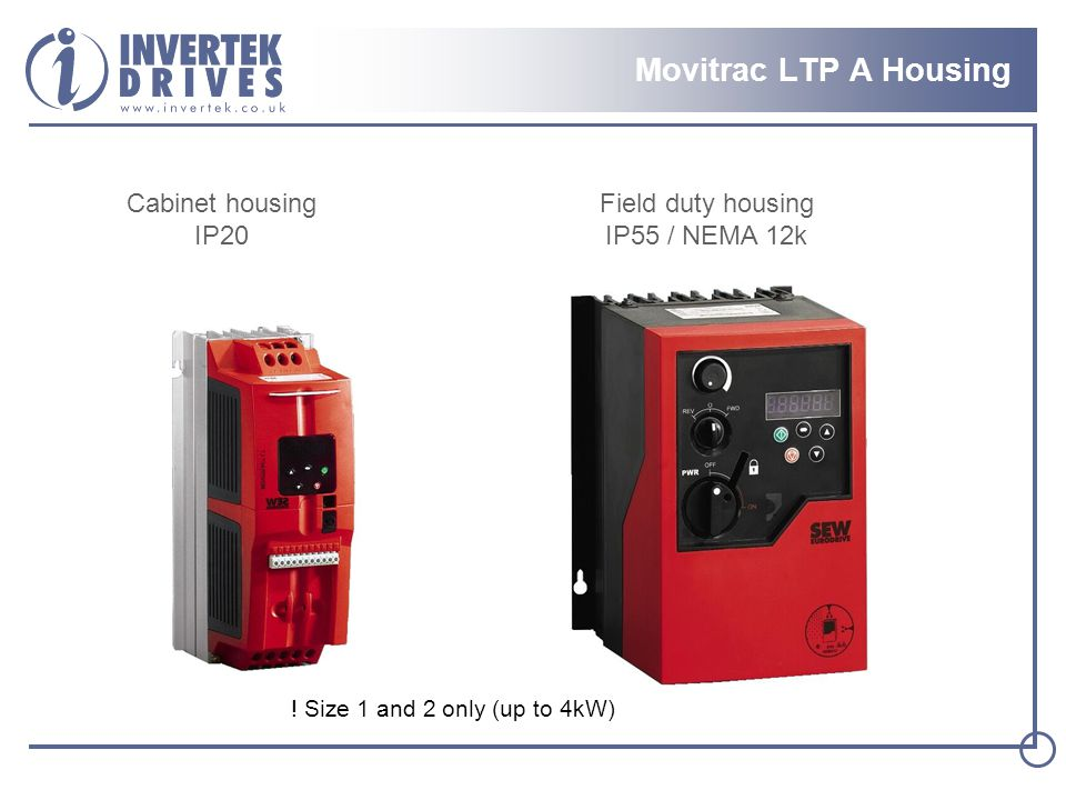 Movitrac LTP A Housing Cabinet housing IP20 Field duty housing