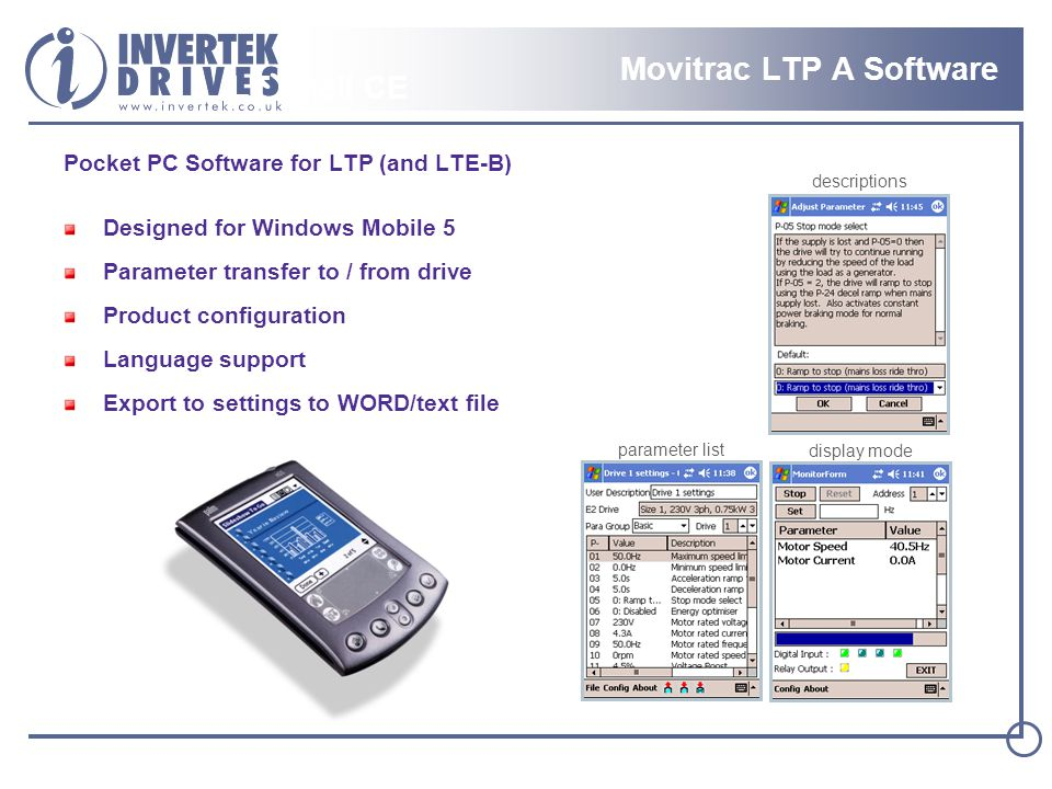 Movitrac LTP A Software LT Shell CE