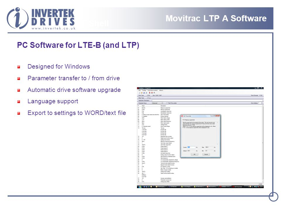 Movitrac LTP A Software LT Shell