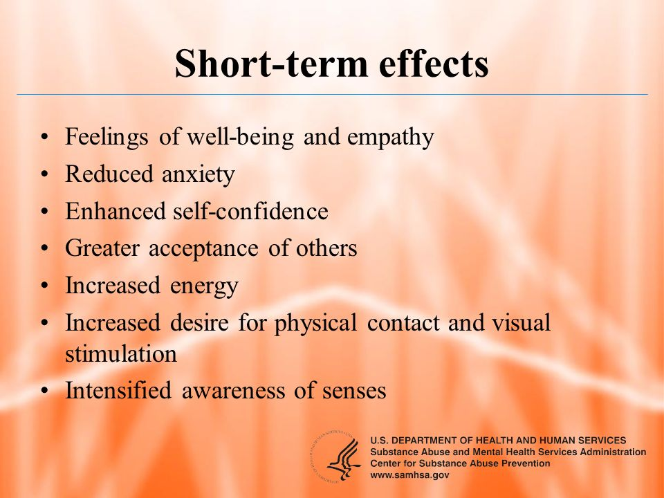 Short-term effects Feelings of well-being and empathy Reduced anxiety