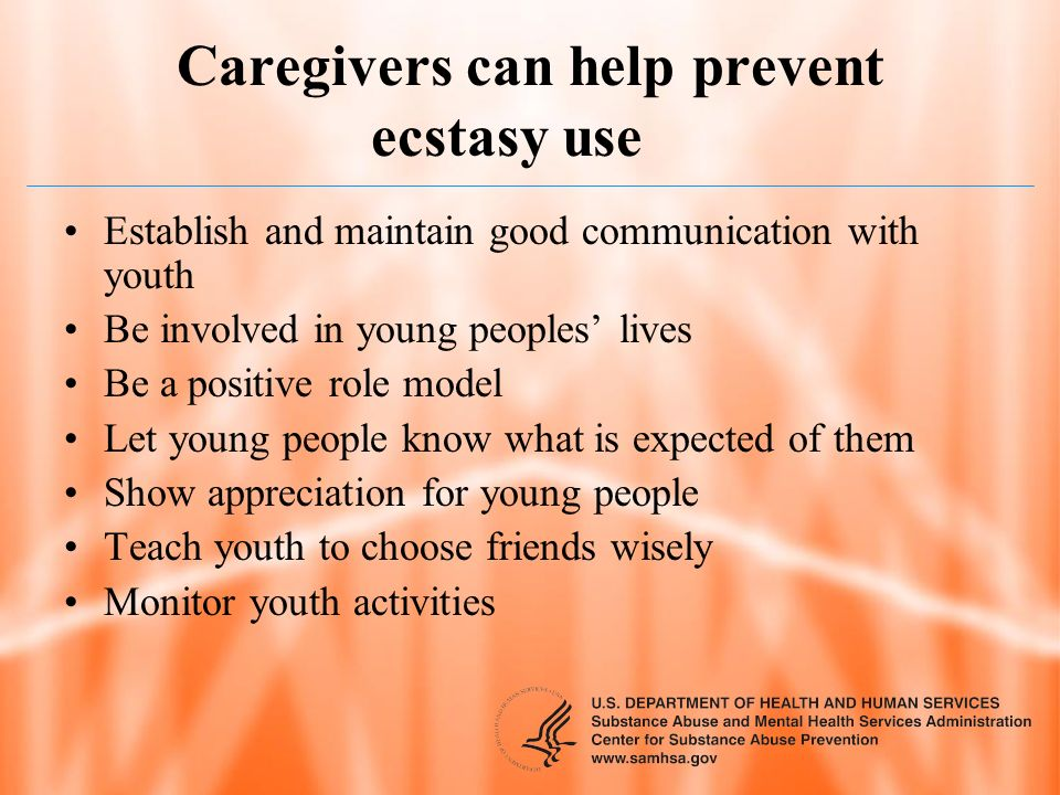 Caregivers can help prevent ecstasy use