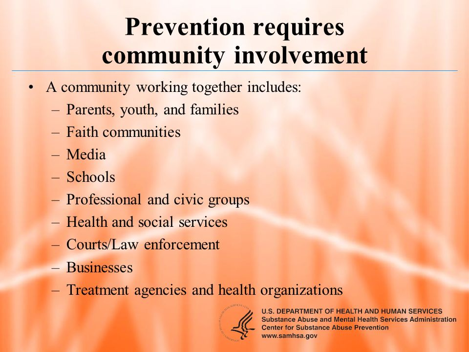 Prevention requires community involvement