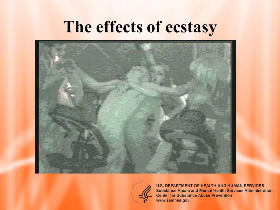 The effects of ecstasy What is the allure of this drug
